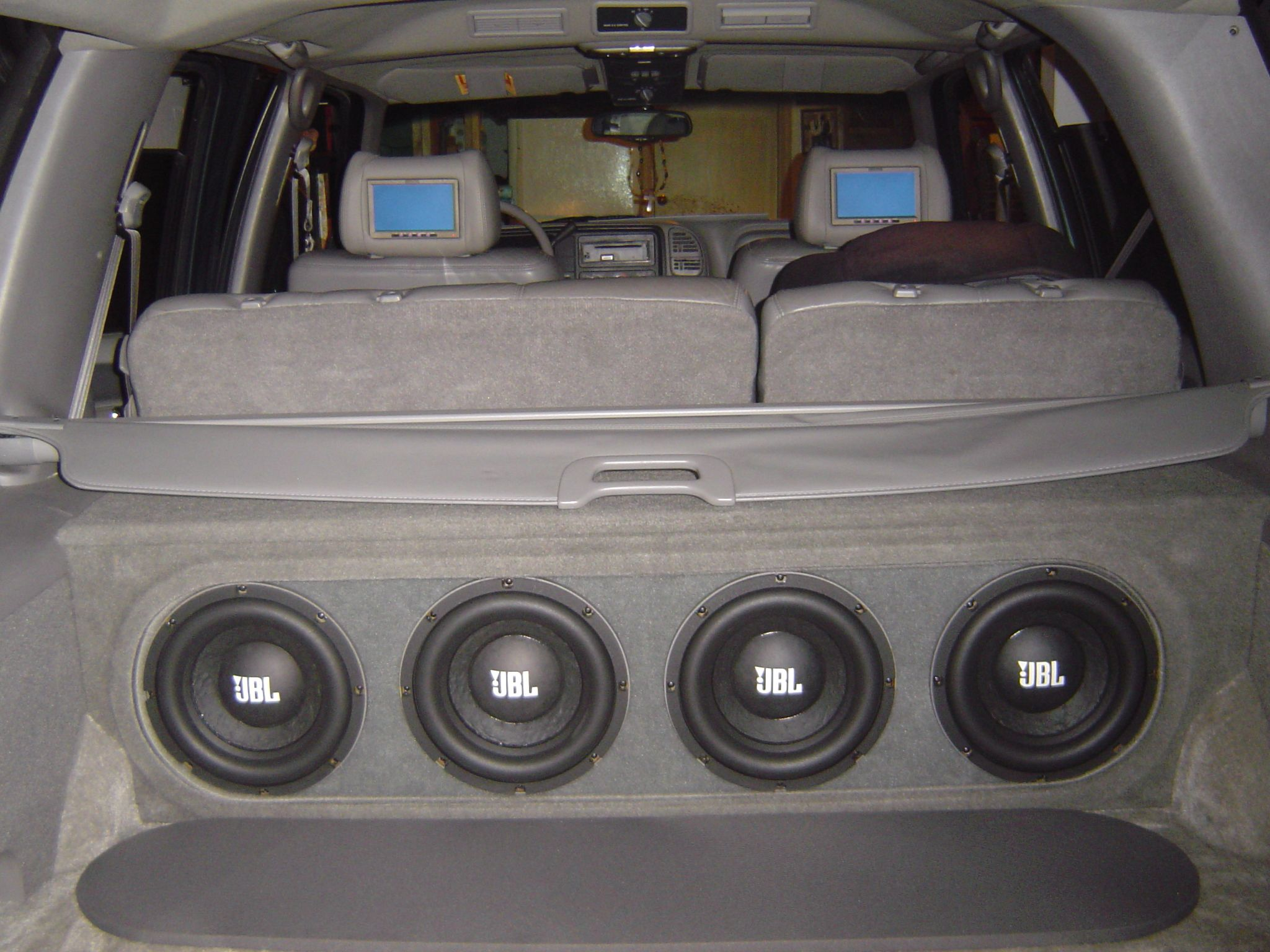 Custom Vehicle Speakers : Jbl w gti mkii subs custom enclosure wires cap